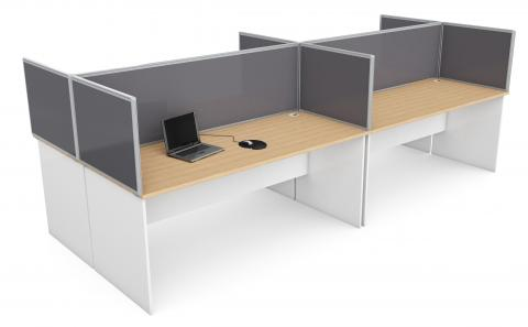 RED Desk Mounted Partition Screen